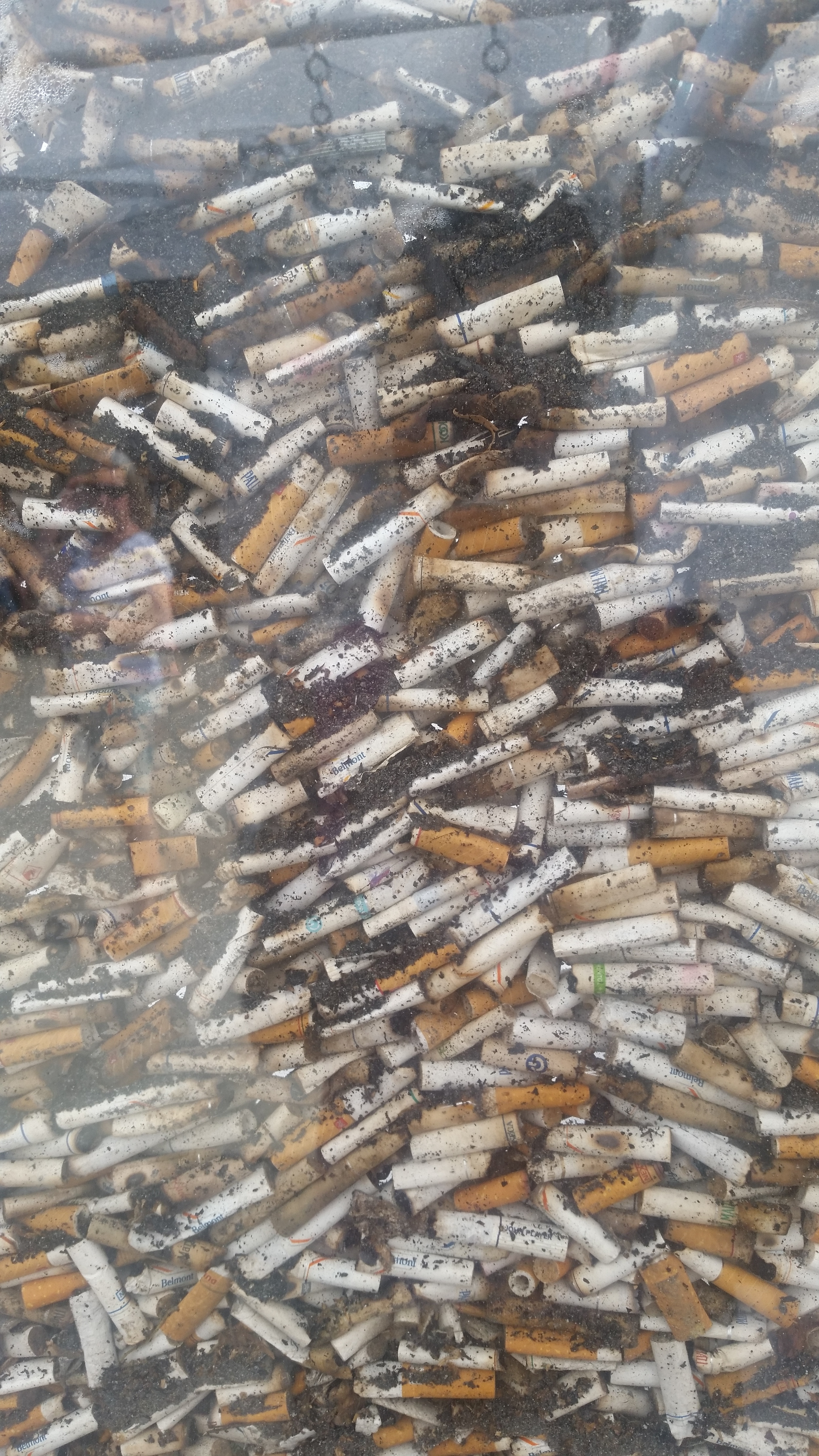 Close up of cigarette art by Shay Salehi
