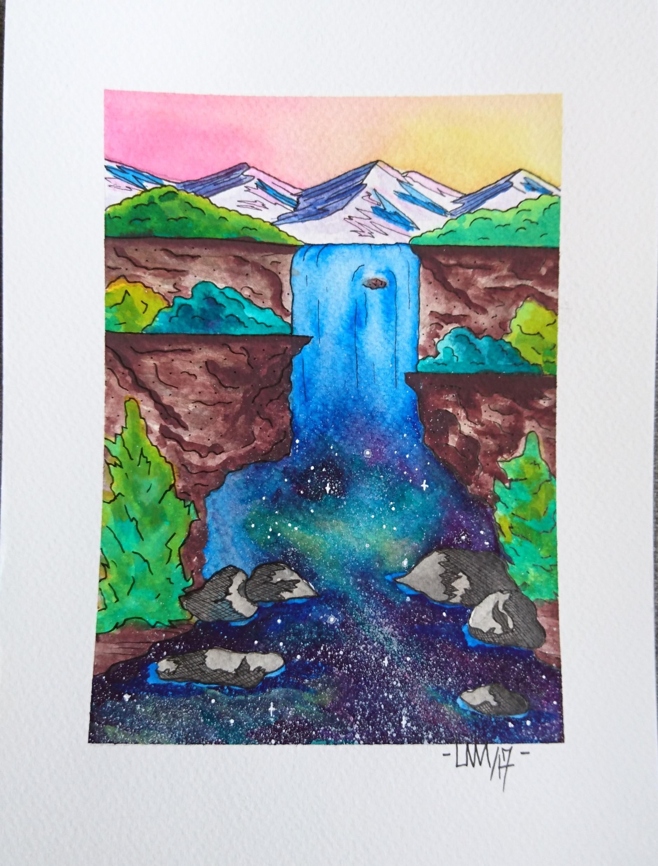 """Gratitude""                                                                      5"" x 7""     Watercolor    2017"
