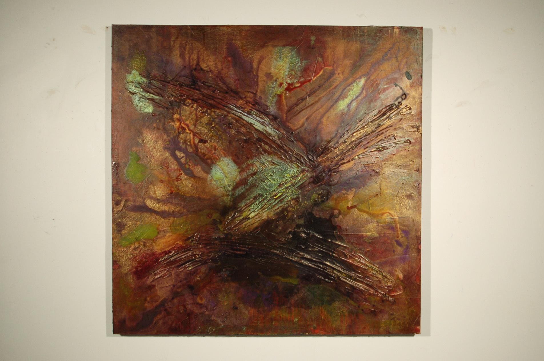 Error 412: System Infected.                                                                  4' x 4'     Acrylic medium on Canvas