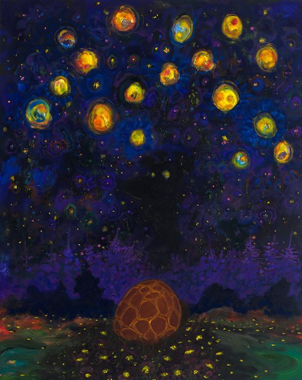 "Tracker   . Oil on canvas  . 127 x 102 cm (50"" x 40"")  . 2018"