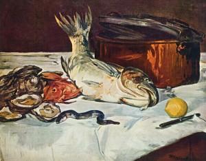 Edouard Manet,  Fish (Still Life) , Oil on Canvas, 1864