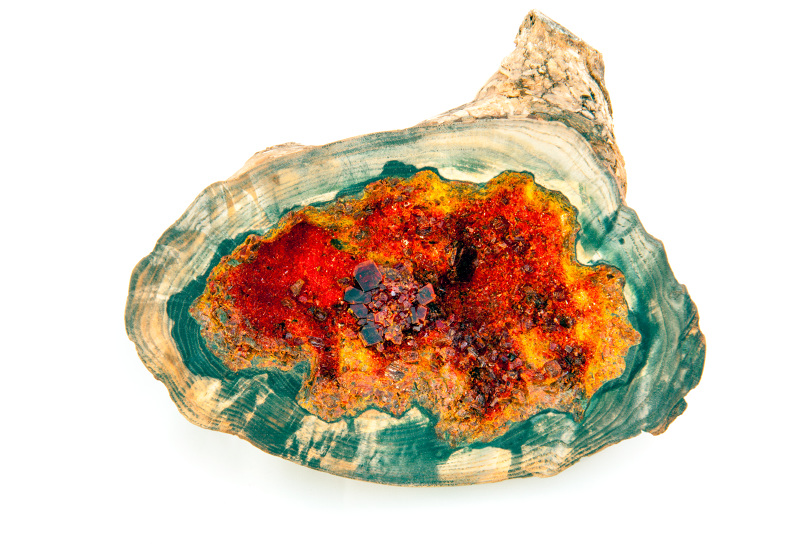 Stefan Herda,  Found Geode #11 , potassium ferricyanide, ash burl, 2015
