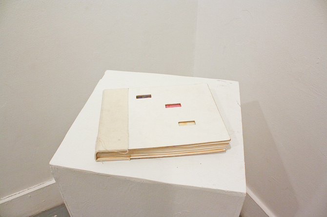 """Stefan Herda,  Colour Manual . Hand bound book, mixed media. 9"""" x 11.25"""". 2010. 45 pages."""