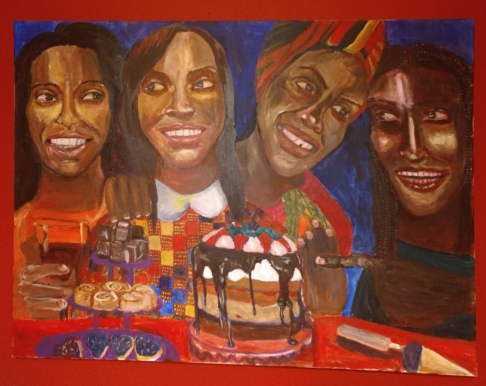 """We're Never Having This Party , acrylic on canvas, 36"""" x 48,"""" 2018 by Janyce Denise Glasper"""