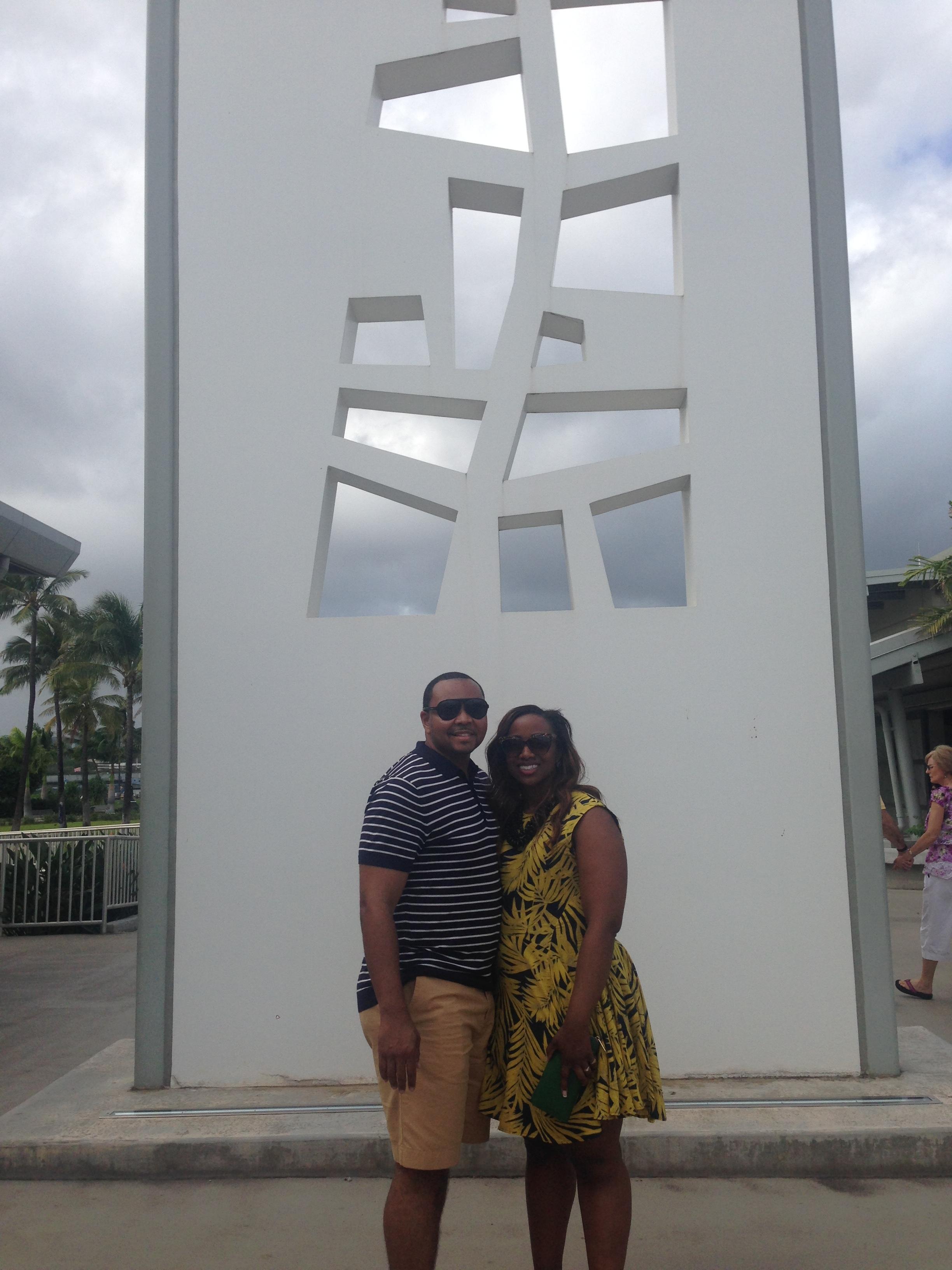 Bill and Maunda at Pearl Harbor