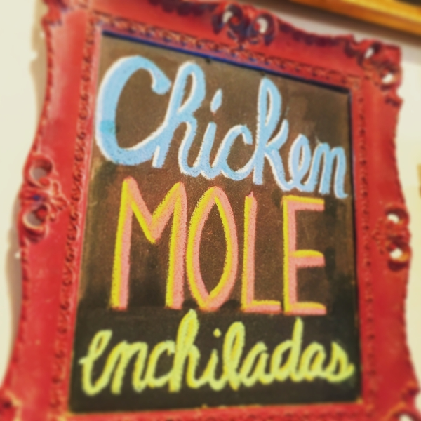 Chicken Mole sign