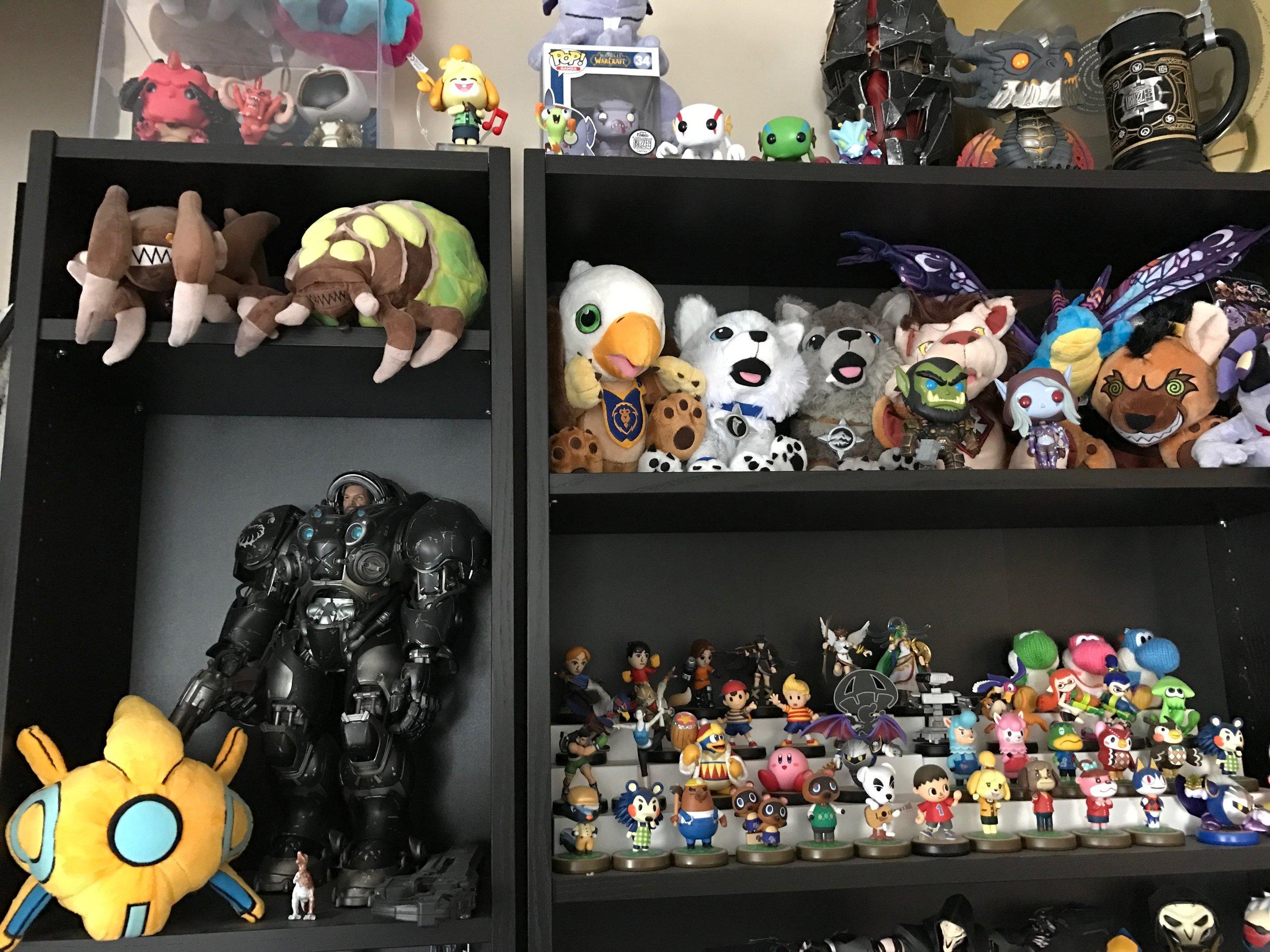The Blizzard & Amiibo Shelf