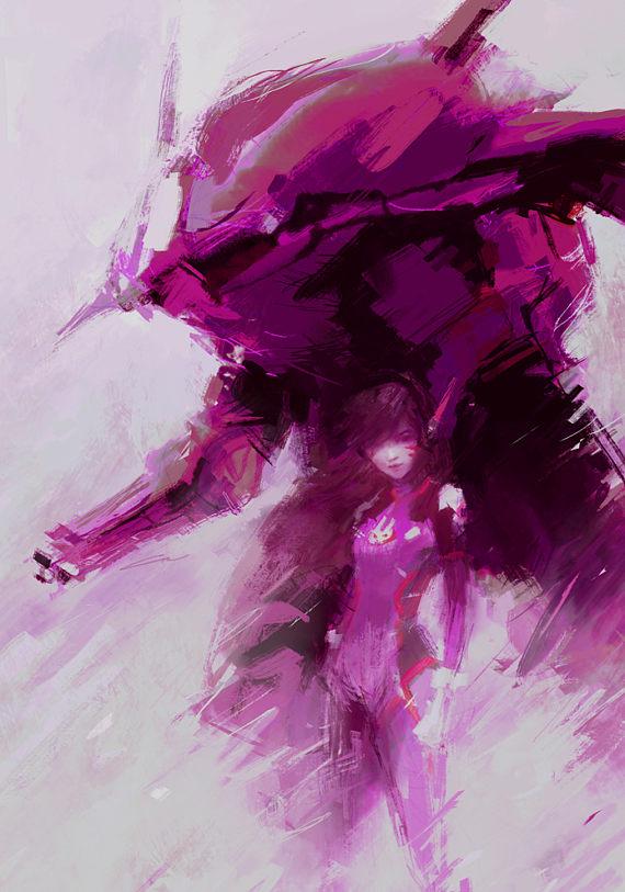 D.Va Gear Art Print (Overwatch) // Gamer Gifts