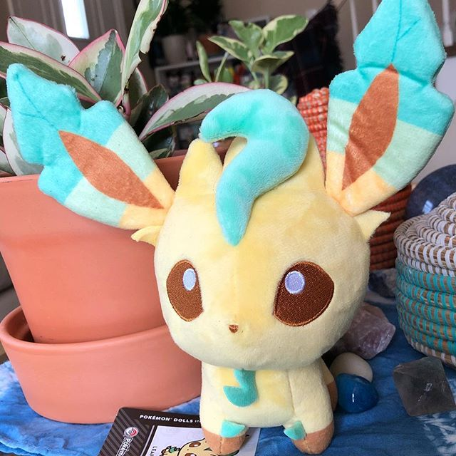Spring is in the air and this Leafeon has been caught! #nintendonyc #eevee #eeveelutions #pokemon #collector #nintendo #gamerlife #plantbased