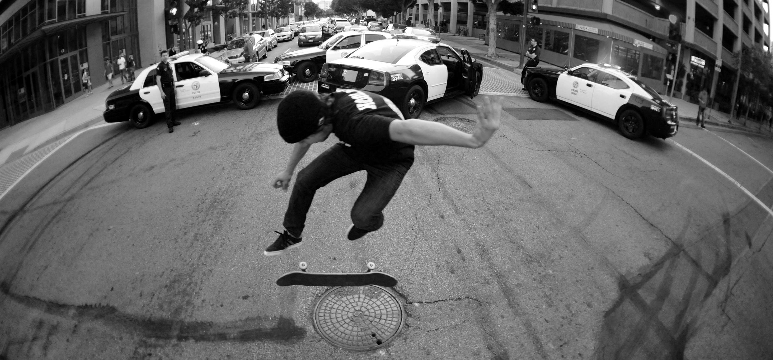 Steve Hansen 360 flip -Downtown L.A.
