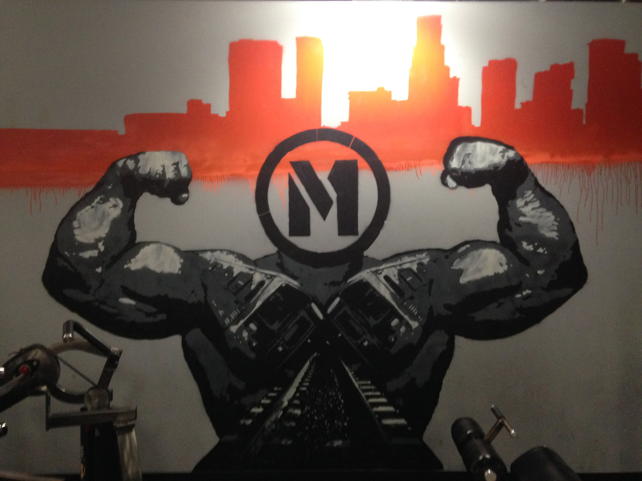 Metro Fitness Mural - Atwater Village - Ca