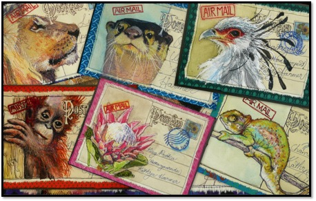 a sample of Kathryn's African themed postcards. Size A4
