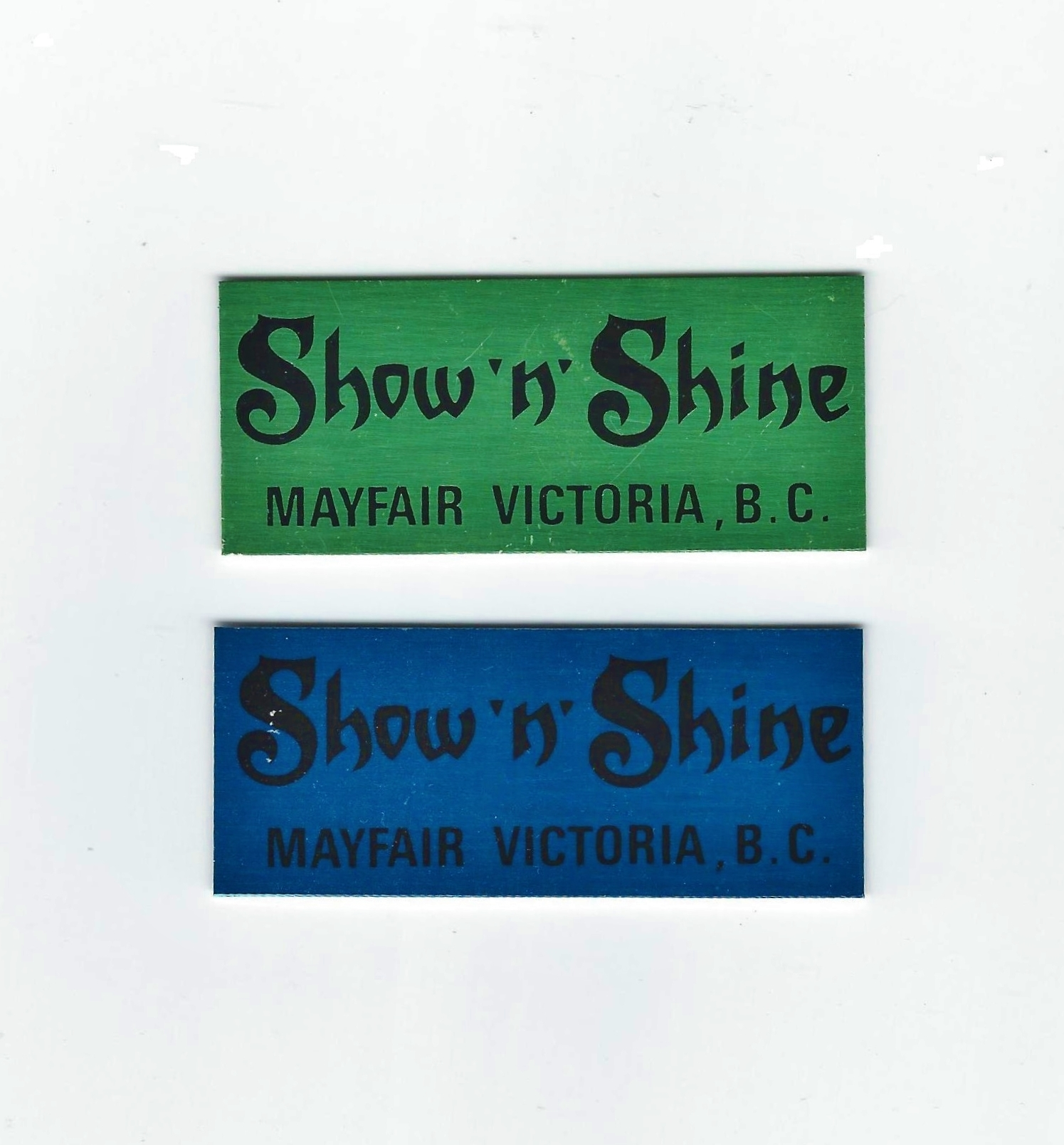 Mayfair Show dash plaques.jpg