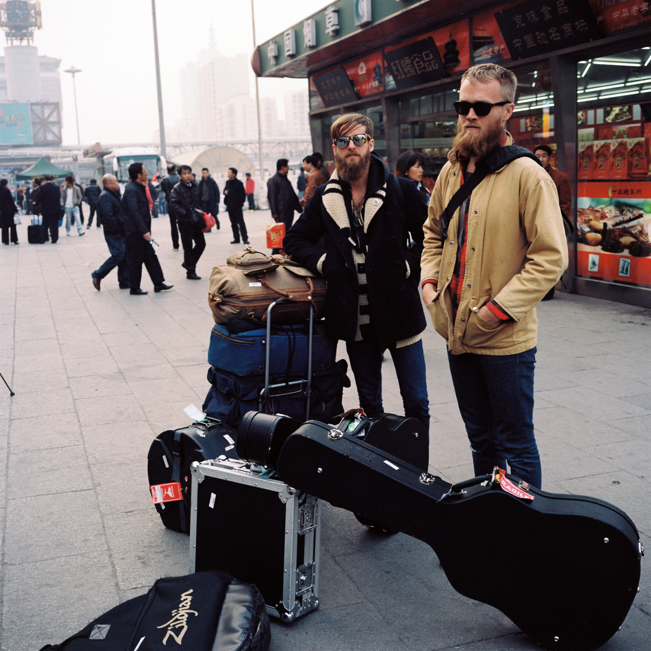 Two Gallants in Beijing. We had just gotten off the 24-hour train ride from Hong Kong to Beijing.