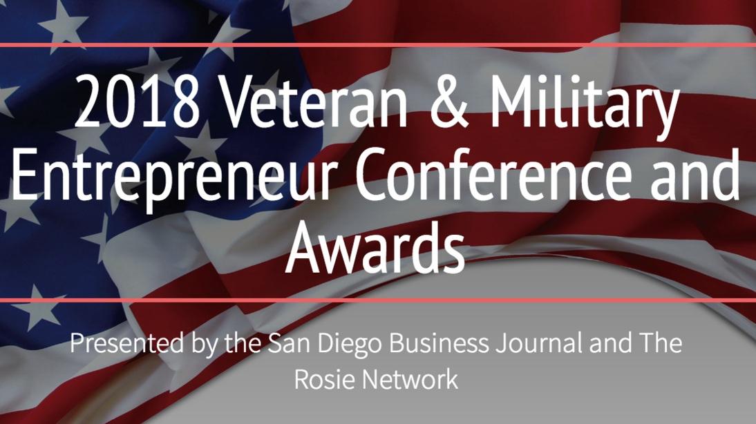 Best Advocate for Veteran Entrepreneurs - Oct 2018   San Diego, California
