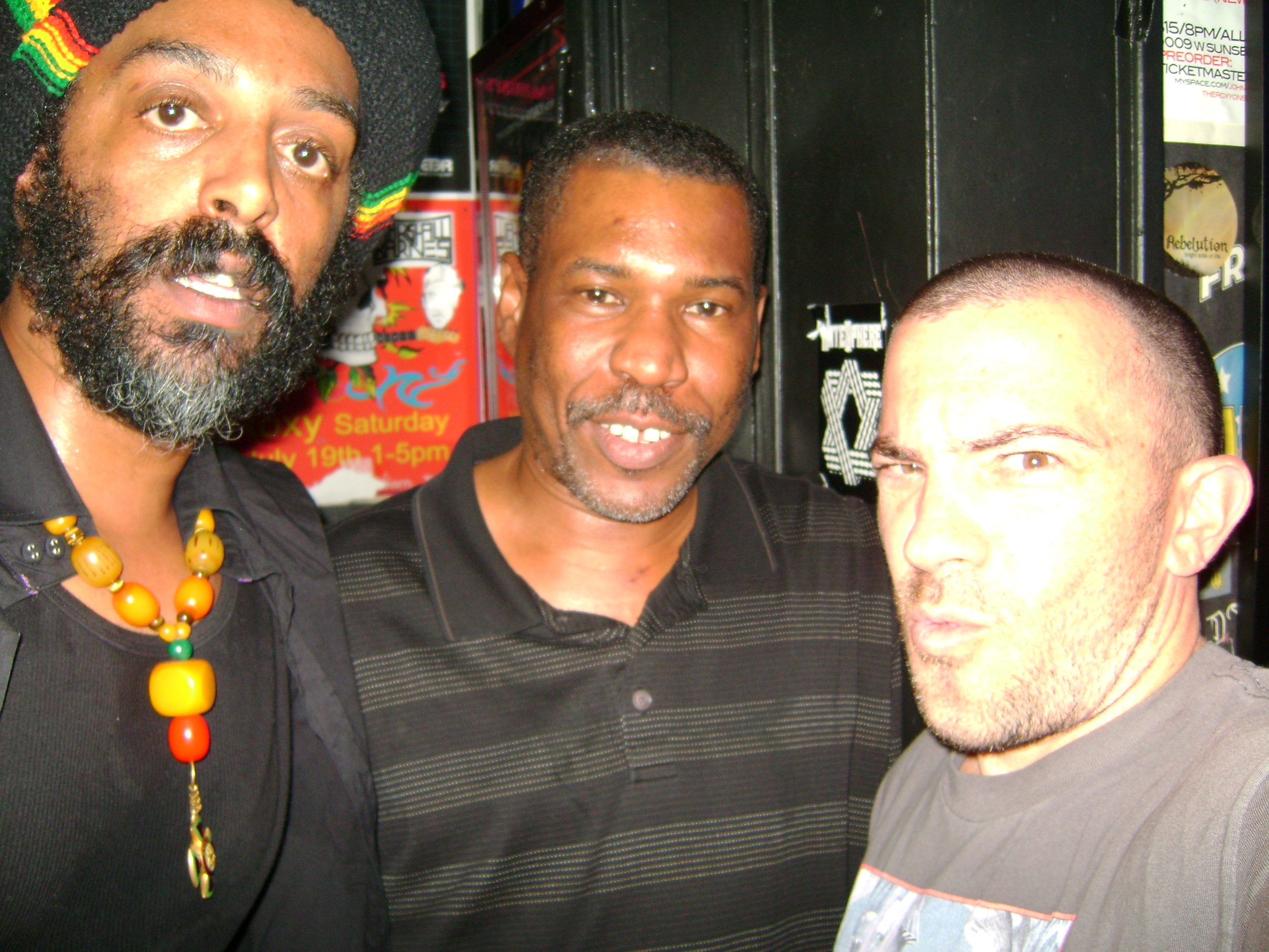 with Dub legend - Scientist. Backstage - The Roxy, Sunset Strip.