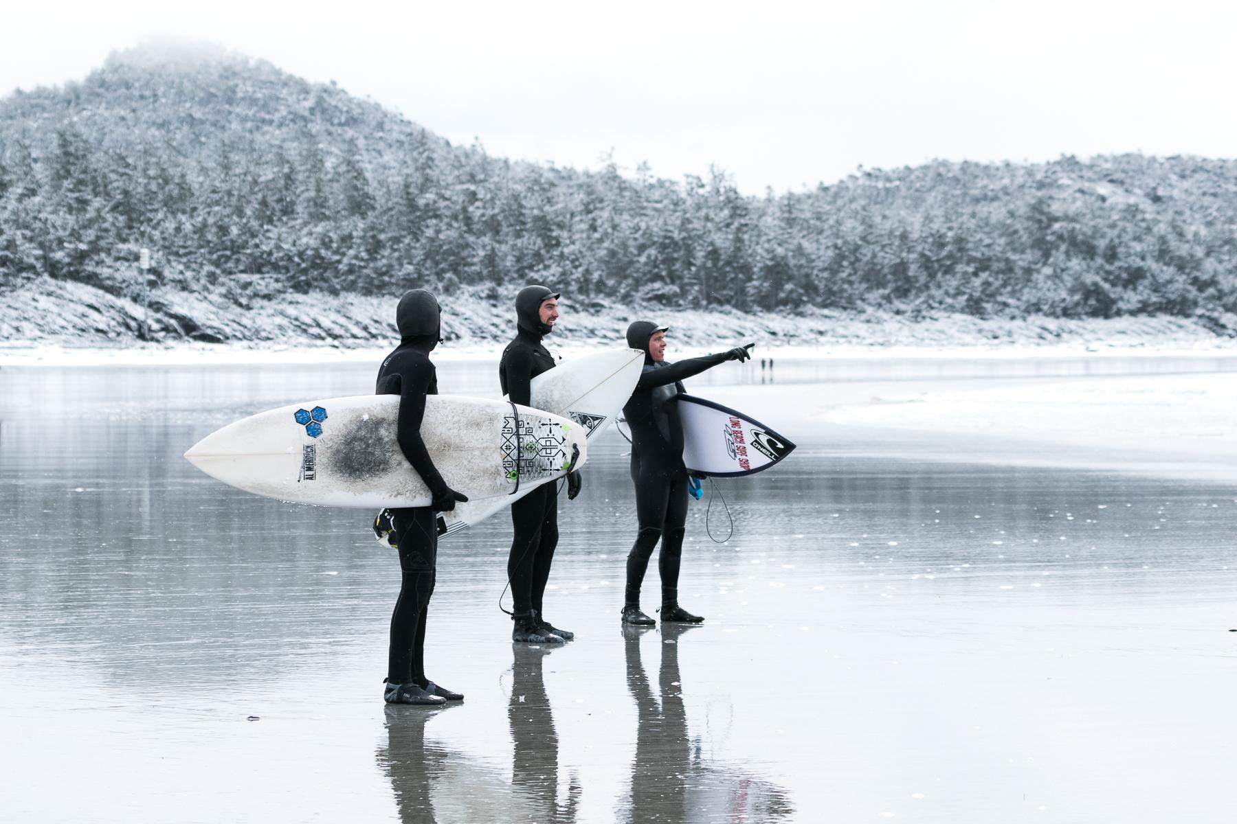 Tofino Surf Photography - Frozen Tundra Surfers