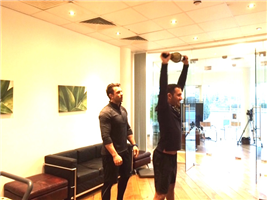 Très Health fitness trainer James puts Jay through his paces