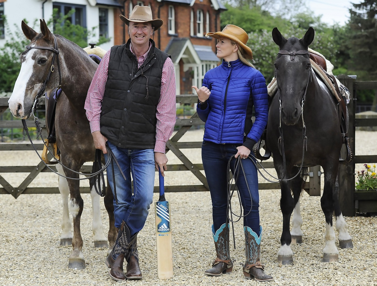 Legendary cricket commentator Jonathan Agnew appears as you've never seen him before on Horse & Country TV with presenter Jenny Rudall.