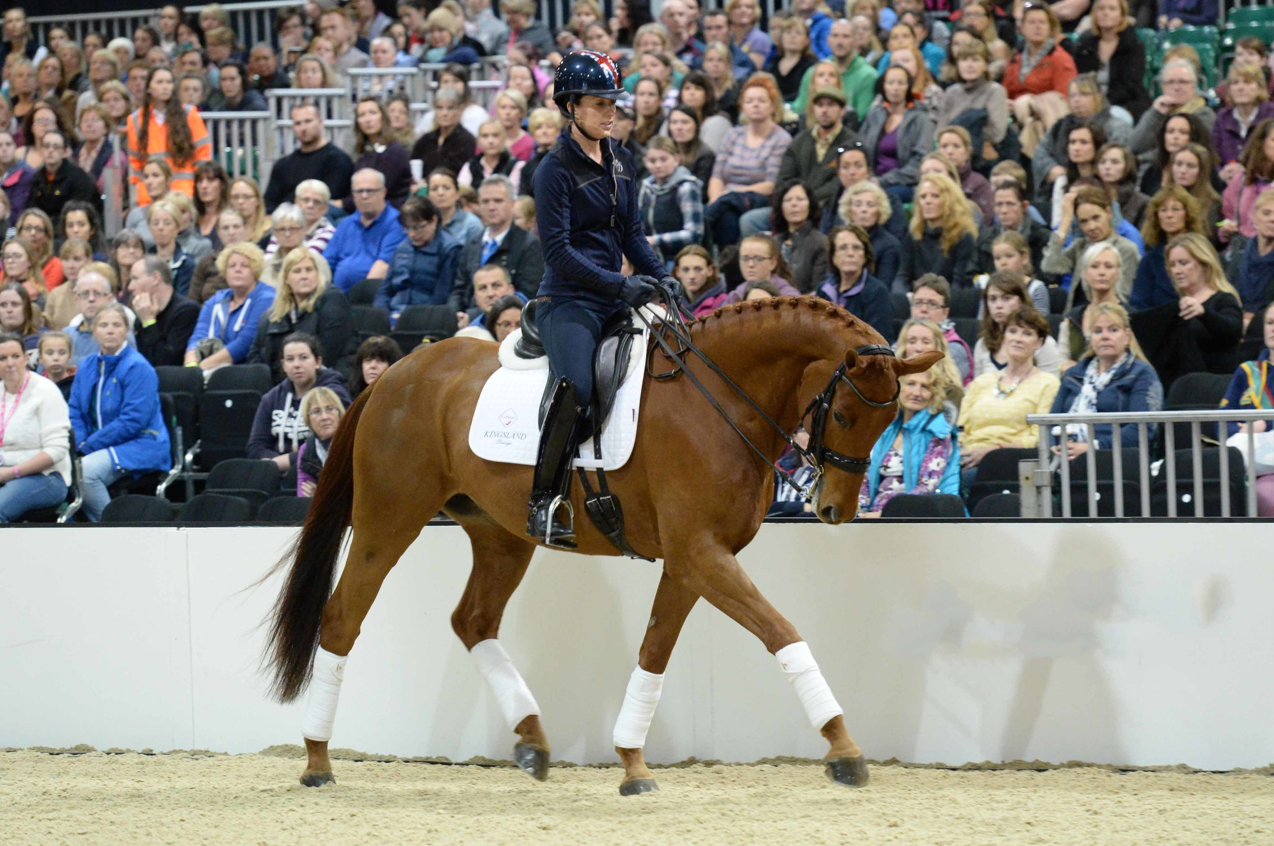 Charlotte Dujardin, pictured here at Your Horse Live 2015, knows just how to keep her cool at a competition.