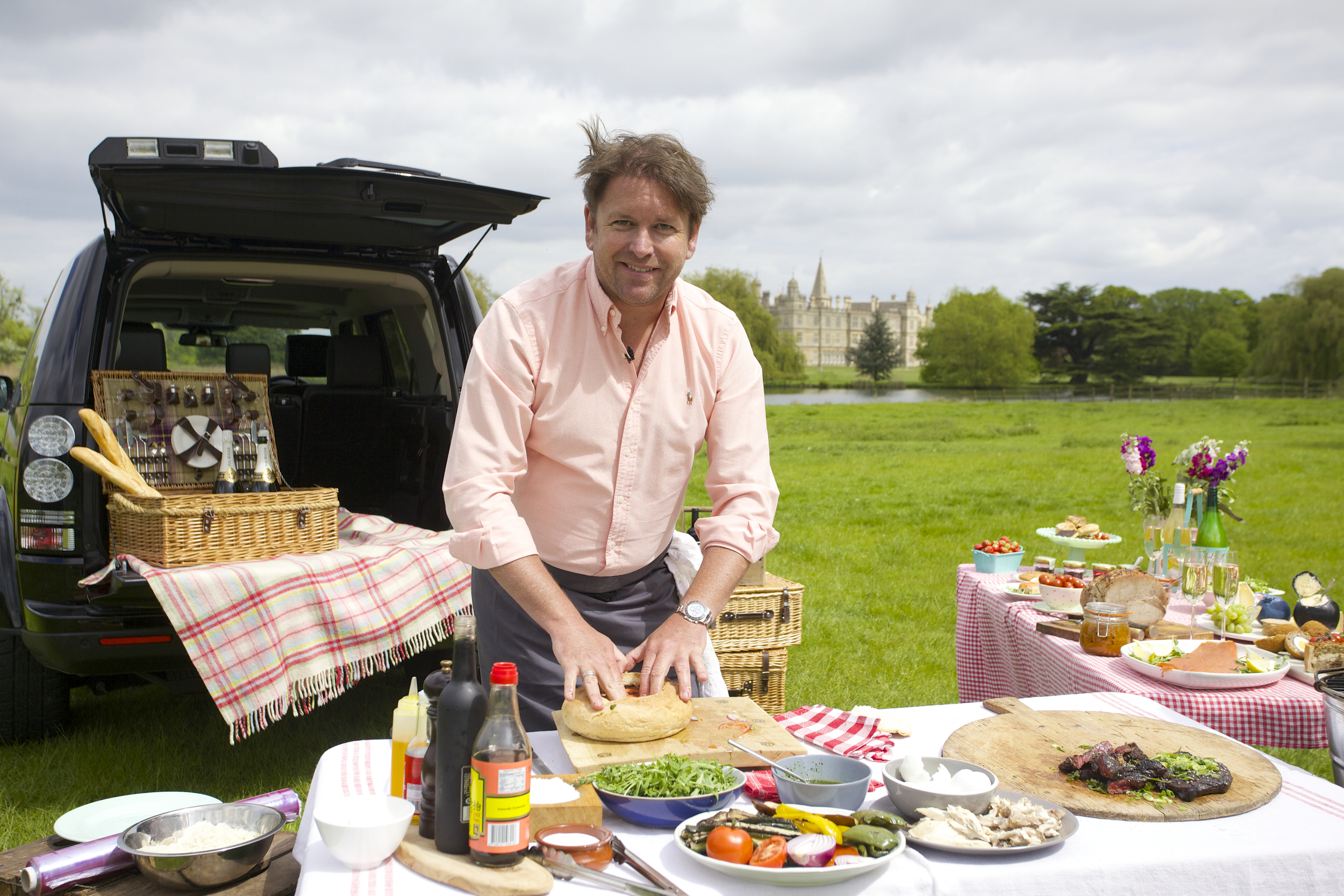 James Martin working with Land Rover come up with two tasty recipes in time for Burghley