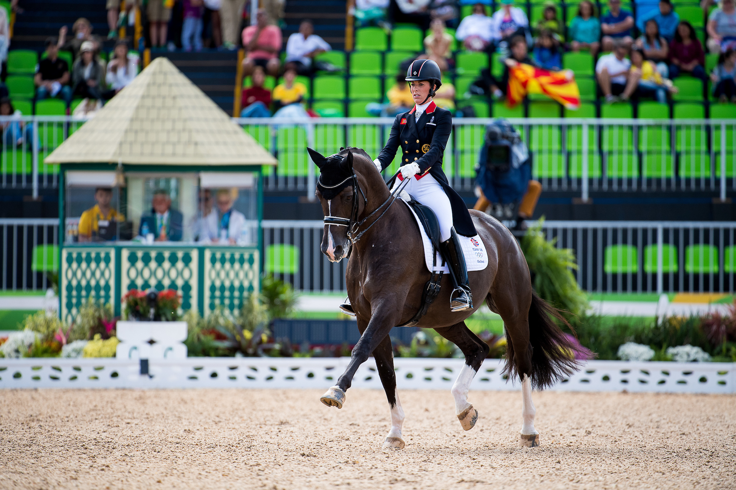 Charlotte Dujardin riding Valegro, leads the way into the final day (Credit: Jon Stroud Media/BEF)