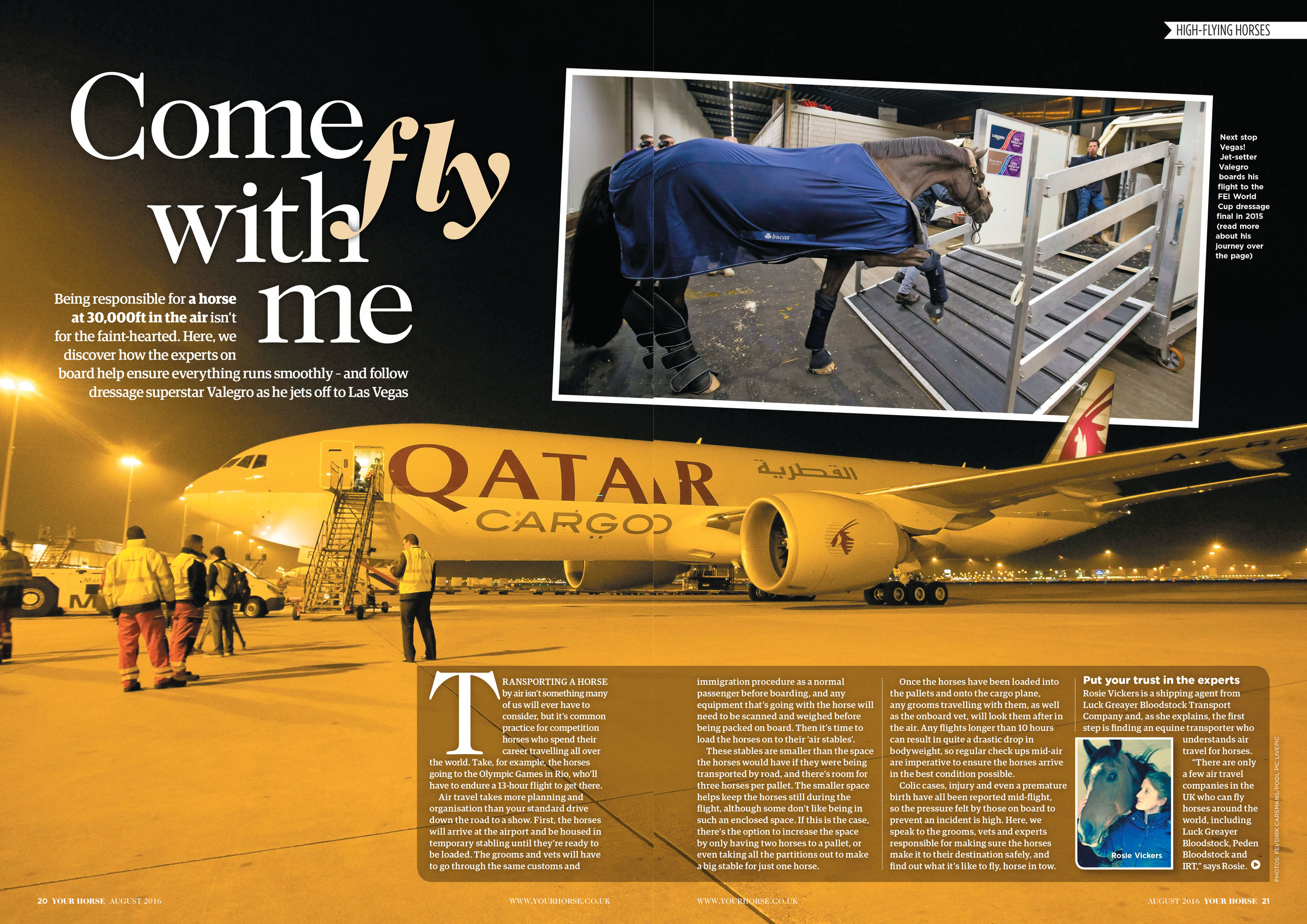 In this month's magazine, read all about how Valegro take's to the sky
