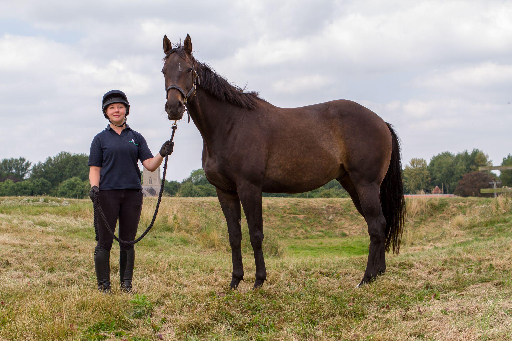 Obi and groom Emma Sawyers (Pic: World Horse Welfare)