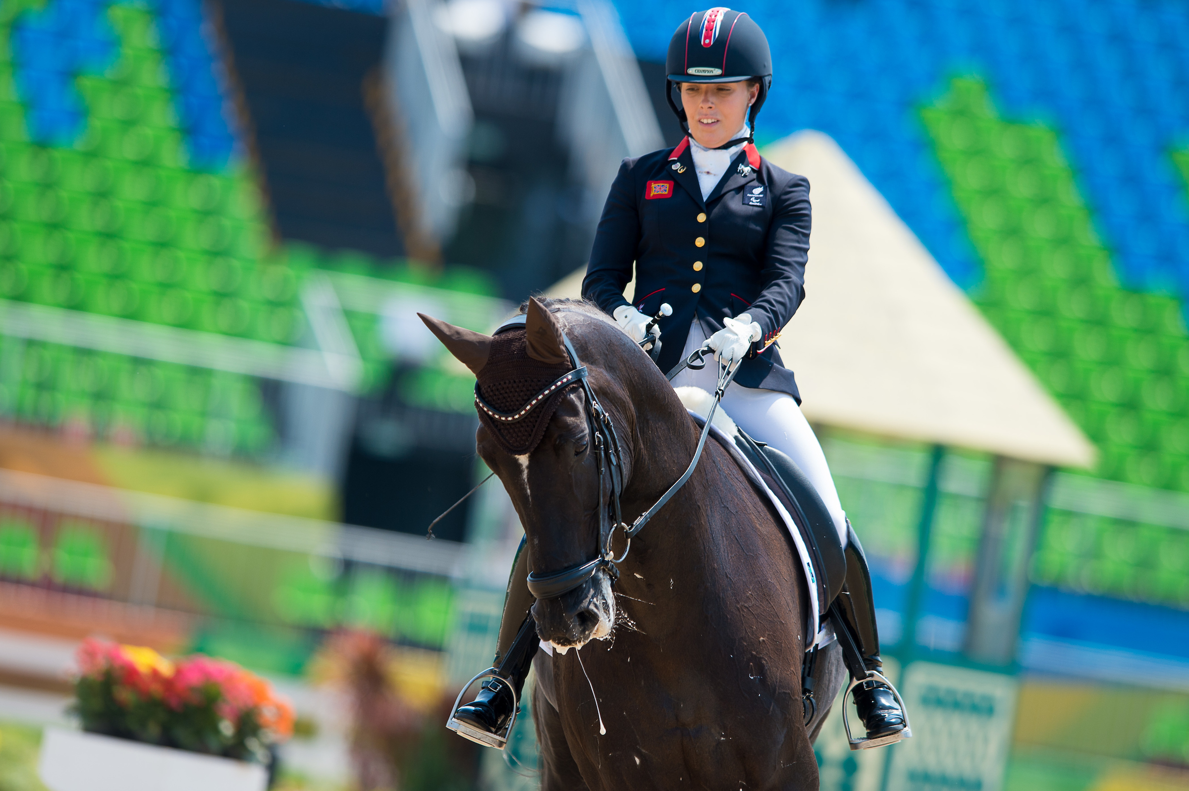 Sophie Wells (GBR) and Valorous ride to the top spot in the grade IV section (Credit: BEF/Jon Stroud Media)