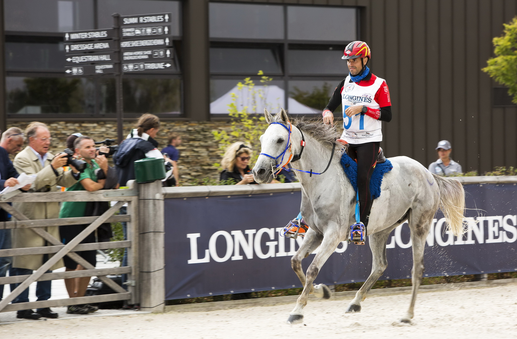 In a day of weather that changed as often as the ride leaders, Spain's Jaume Punti Dachs captured individual gold and led Spain to the team title at the Longines FEI World Endurance Championships 2016 in Samorin (SLK). (Miro Nota)