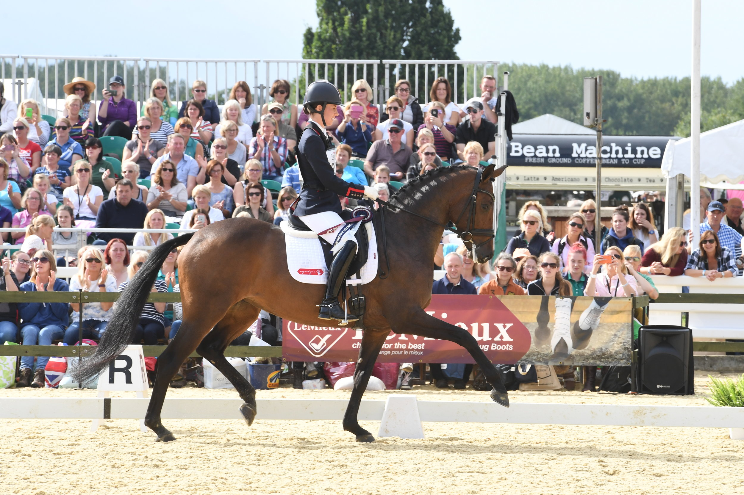 Charlotte Dujardin has a range of up and coming young horses already winning (Credit: www.kevinsparrow.co.uk)