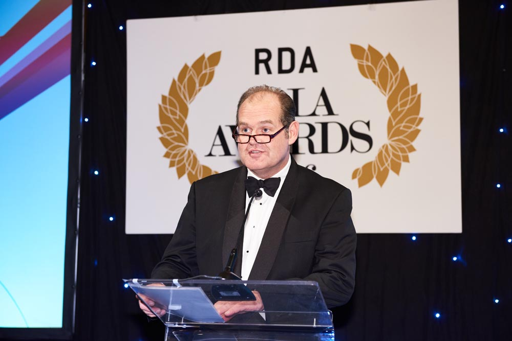 RDA's Chief Executive, Ed Bracher, opened the awards