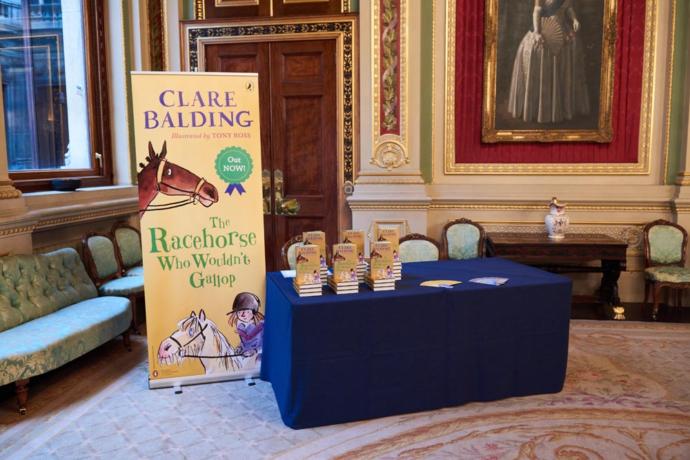 Clare's book signing set up