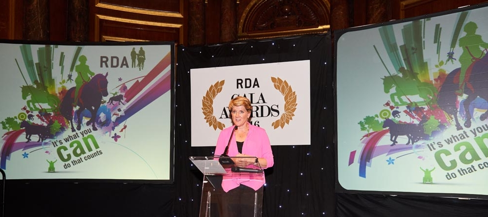 Clare Balding presented the 2016 RDA Gala Awards at Drapers' Hall in London