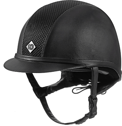 Charles Owen Ayr8 leather look riding hat