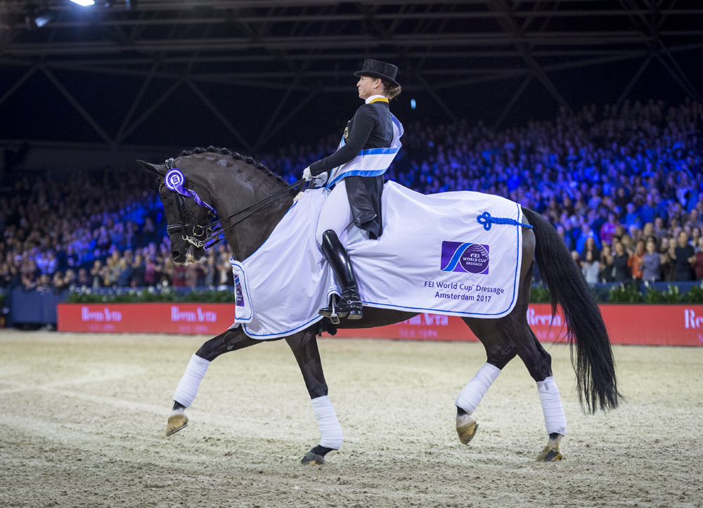 Isabell Werth and the fabulous mare Weihegold secured their third win (Arnd Bronkhorst/FEI)