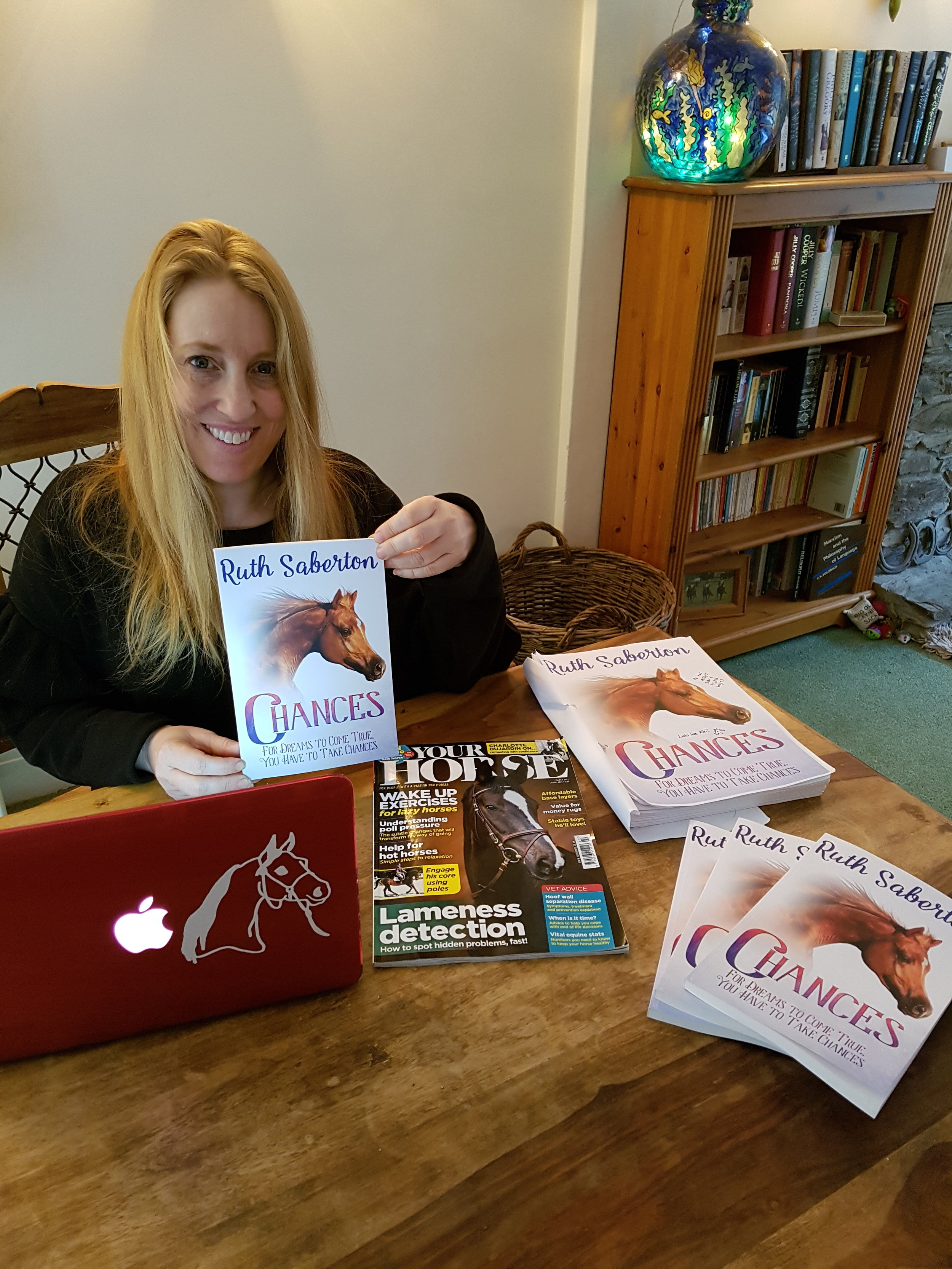 Ruth with her latest novel Chances