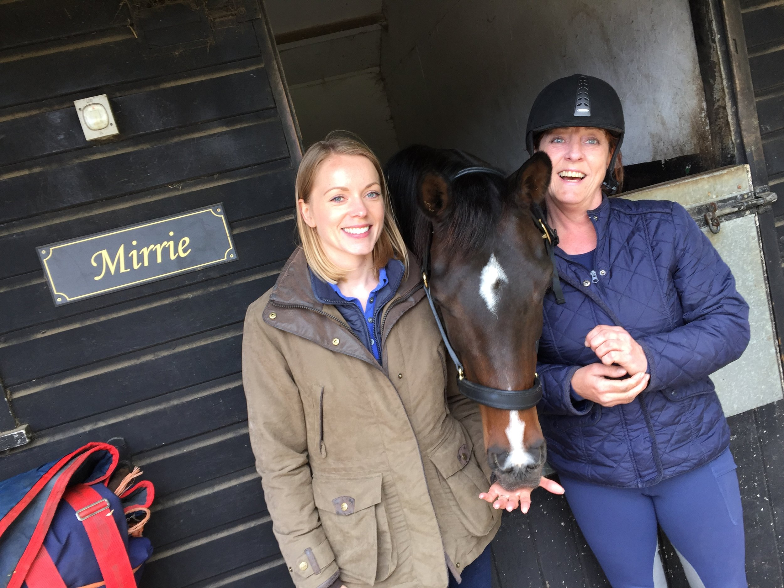 Your Horse editor Imogen, the lovely Mirrie and her owner, our very own #Hack1000milesambassador, Tracey Sawyer