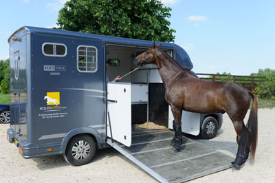 Time and patience are needed if your horse isn't keen to load