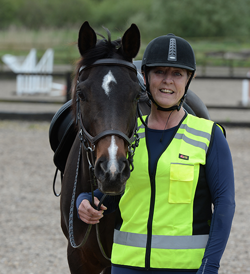 Tracey Sawyer and her lovely mare Mirrie