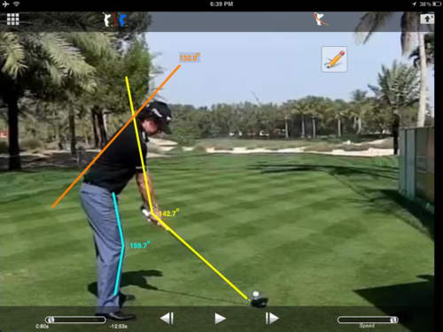 Golfers regularly use video analysis to improve their technique (image from Clip Coach)