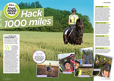 HACK 1000 MILES in your horse magazine