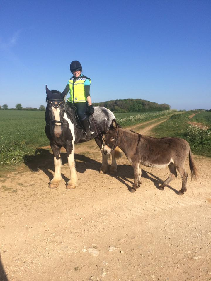 Louise Horwood is getting her donkey involved!