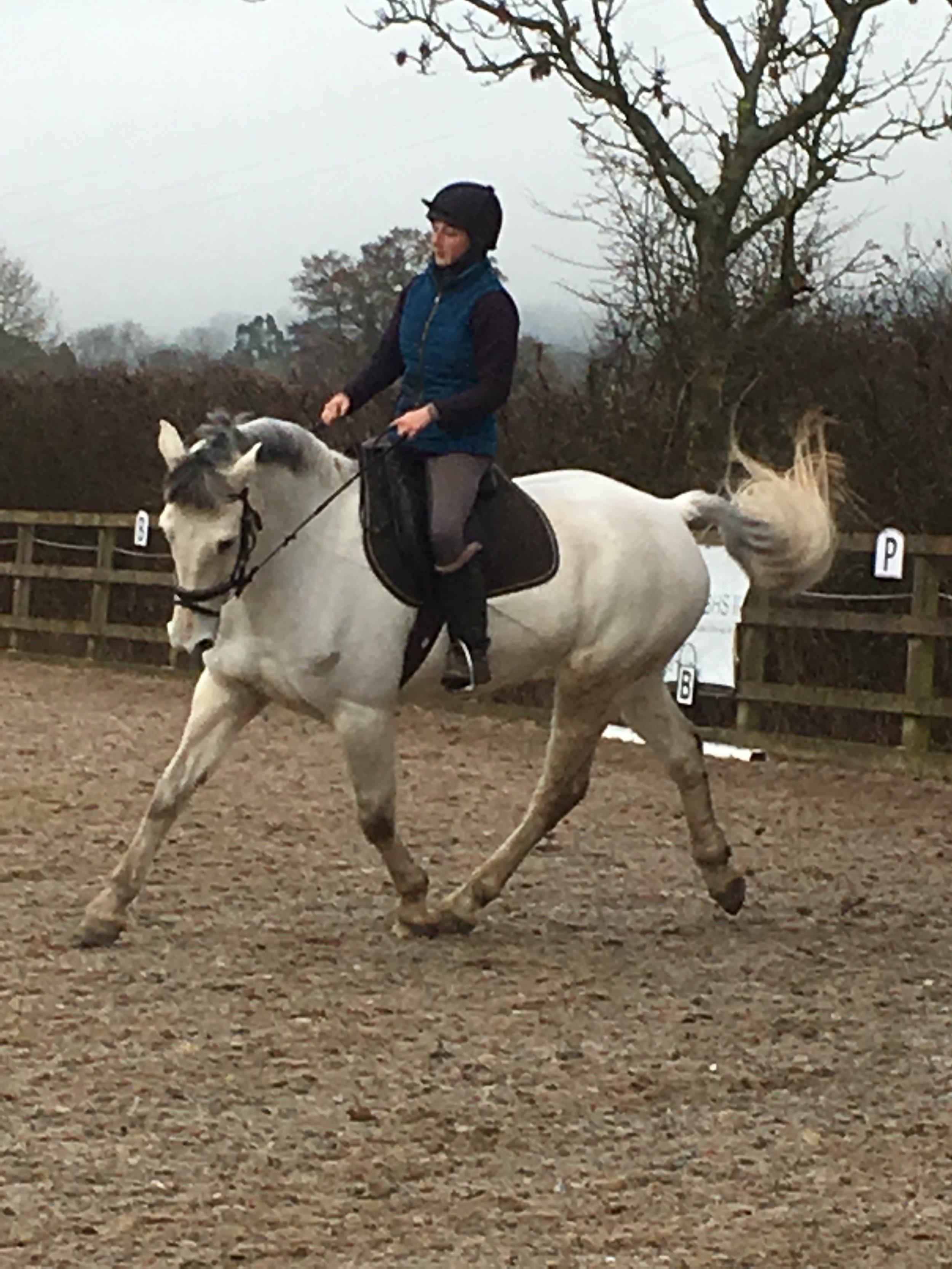 Beth riding super flynn the para horse