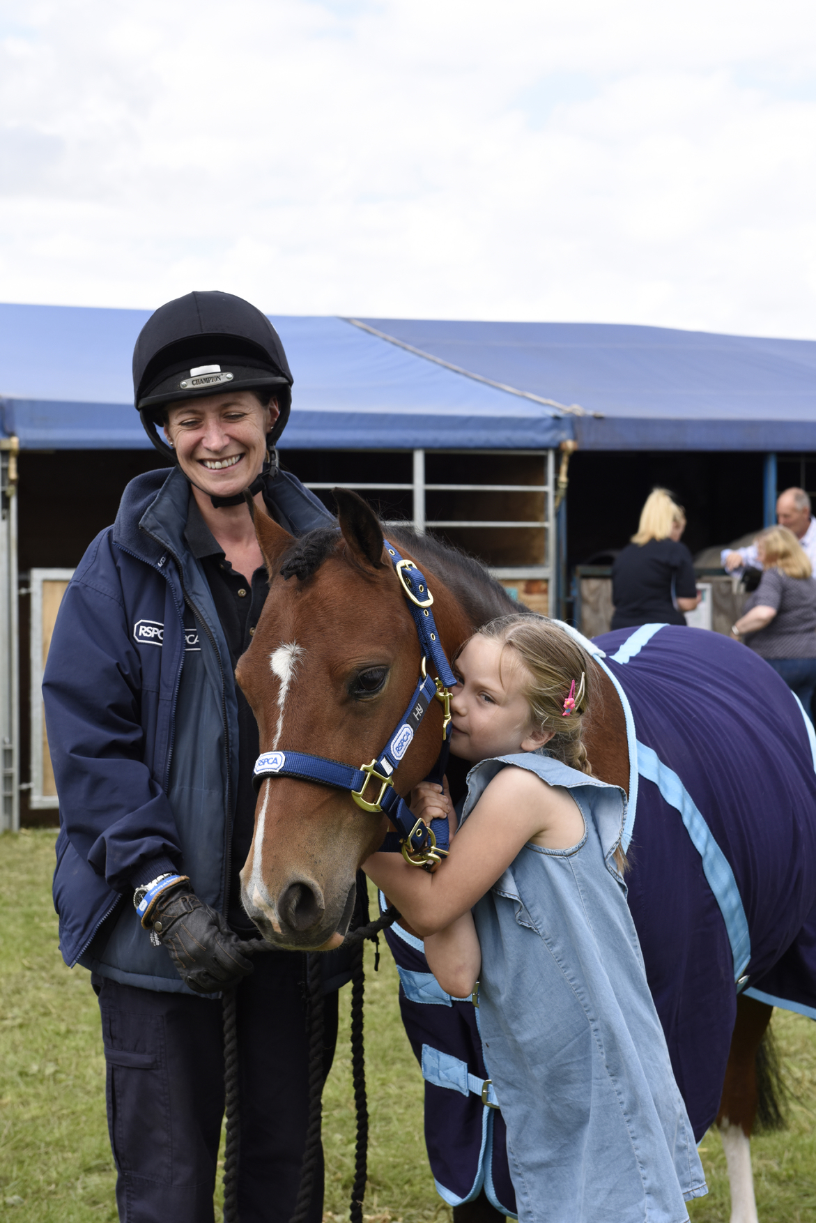 Six year-old Amelia James fell in love with rescue pony Billy with RSPCA chief inspector Cathy Hyde