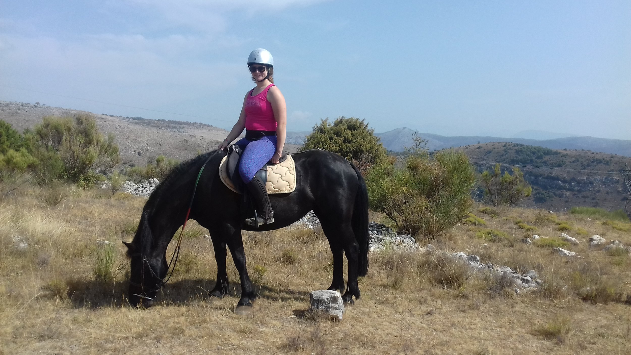 Riding on holiday