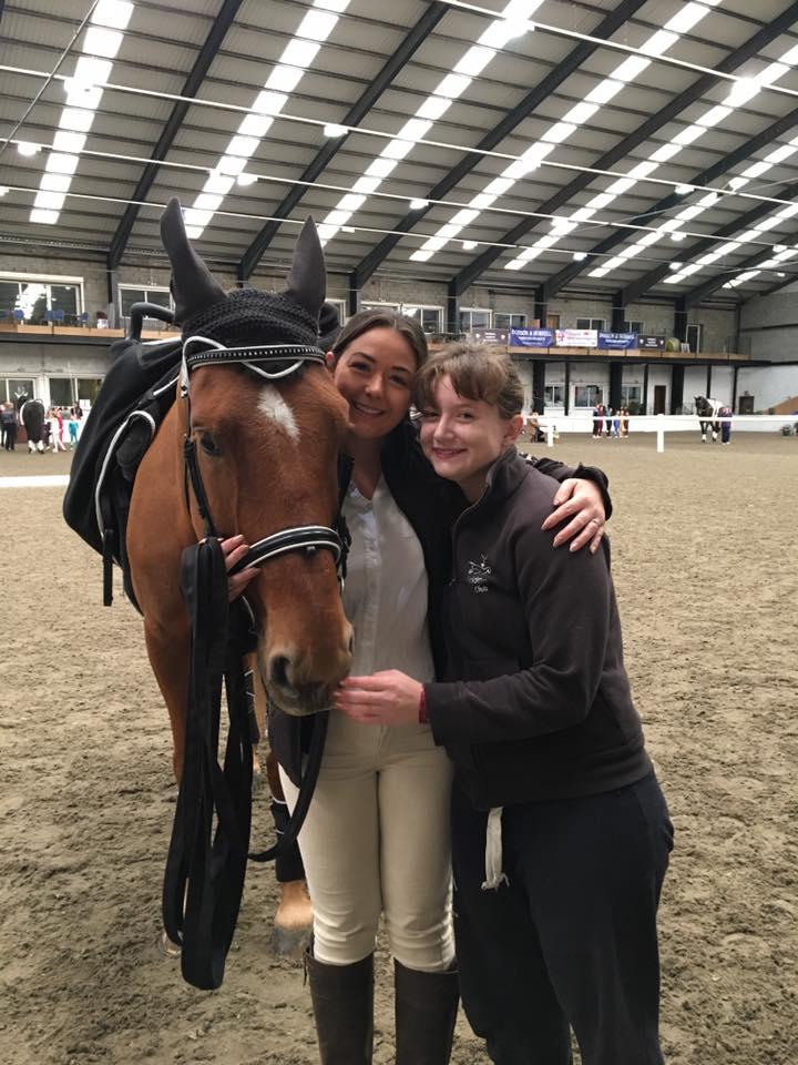 Sandie (my horse!), Nett (my lunger!) and Me