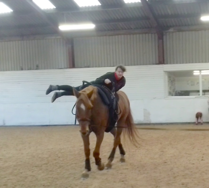 A wobbly moment on Sandie