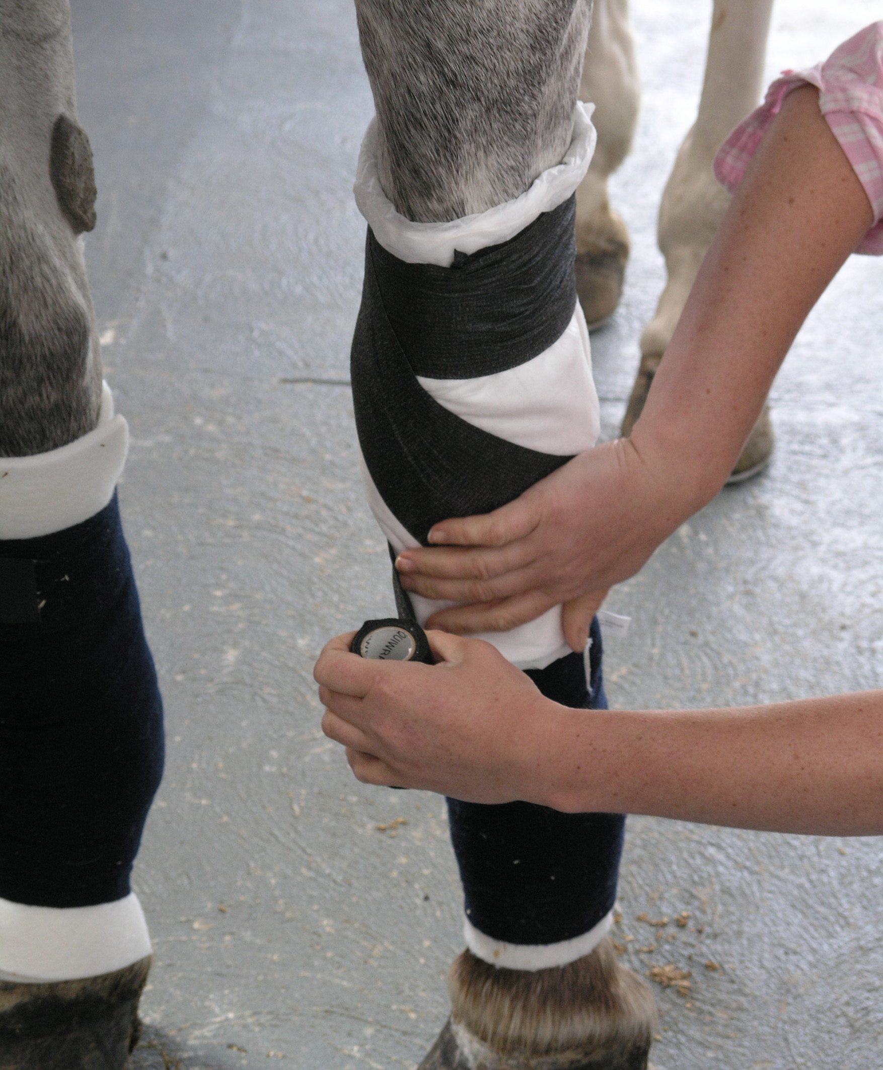 The knee is not an easy joint to bandage and any bandage should not restrict movement