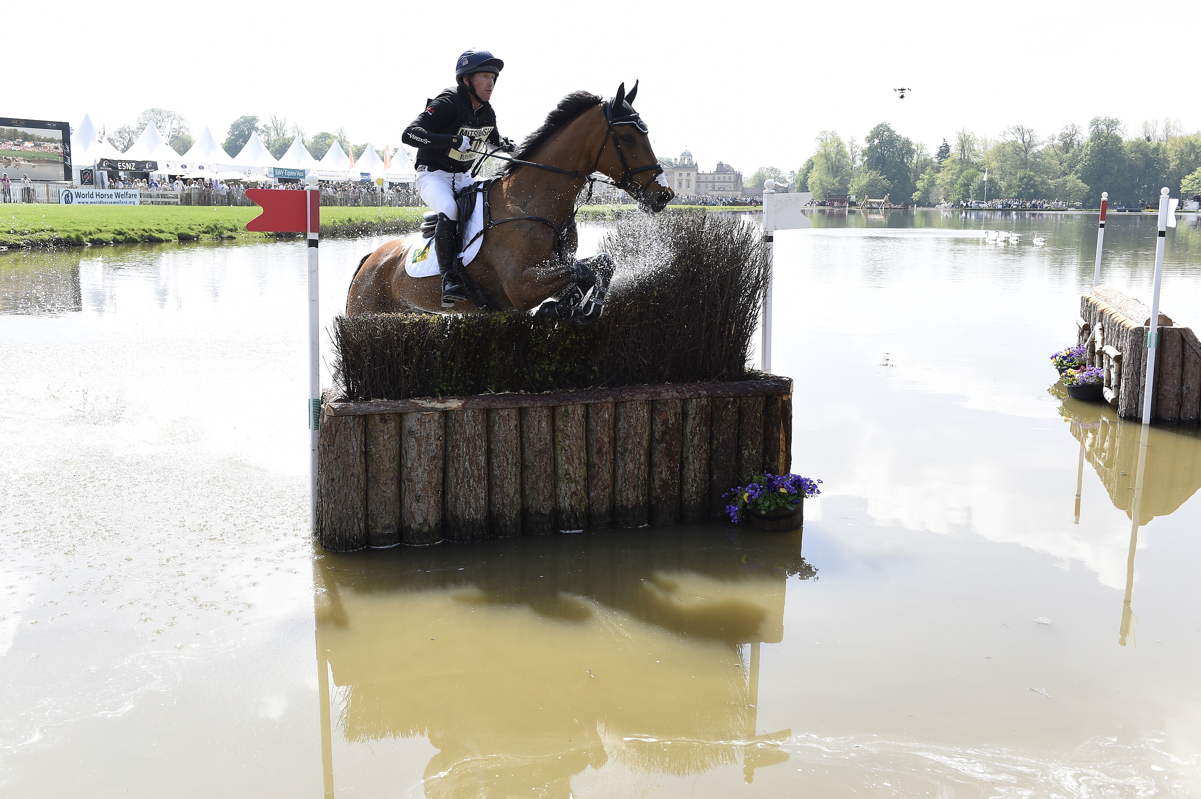 Oliver Townend and Cooley SRS through the Lake
